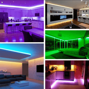 Bluetooth LED RGB Strip Lights Multicolor APP and Remote Controlled Decorative Fancy Mood Lights