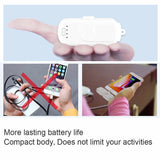 Portable Power Bank Charger - 4 Mini Magnetic Charging Packs with Charging Station Stand-Alone Powerbank for iPhone Android