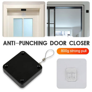 Punch-free Automatic Door Closer Adjustable Surface Mounted Automatic Closing Door Closer