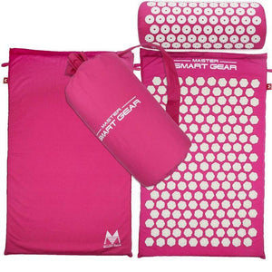 High Quality Acupressure Mat and Pillow Set for Back/Neck Pain Relief and Muscle Relaxation