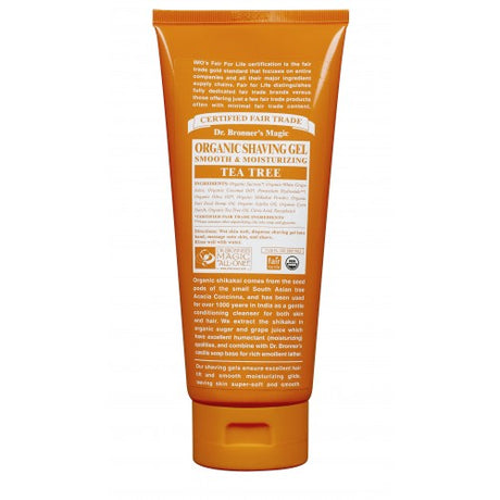 Dr Bronner's Organic Tea Tree Shaving Gel