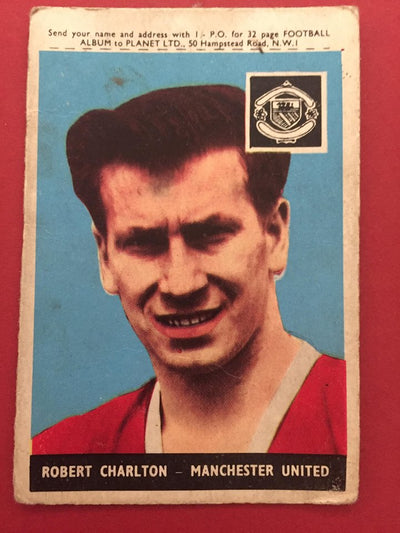SIR Bobby Charlton Manchester United A&BC 1958 - ROOKIE CARD