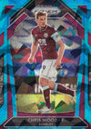 #075. BLUE ICE PRIZM - 058. CHRIS WOOD - BURNLEY - CARD 26 OF 75