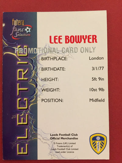 LEE BOWYER - FUTERA ELECTRIC - PROMOTIONAL CARD