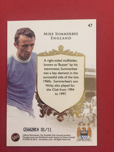 "MIKE SUMMERBEE - FUTERA ""THE GREATS"" 2016 #11"