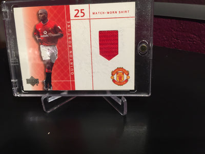 QUINTON FORTUNE - MATCH-WORN SHIRT - UPPER DECK FOTBALLKORT