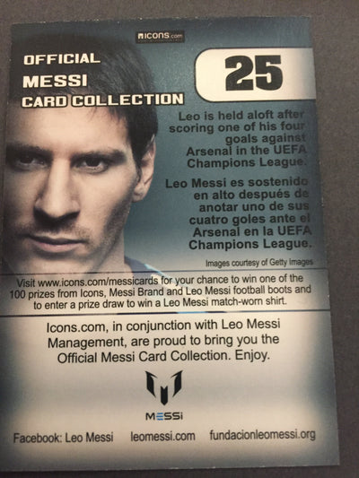 025. OFFICIAL MESSI CARD COLLECTION