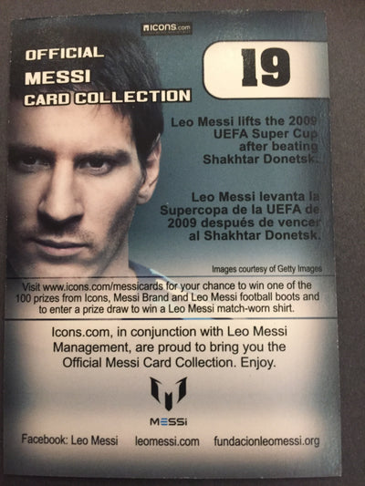 019. OFFICIAL MESSI CARD COLLECTION