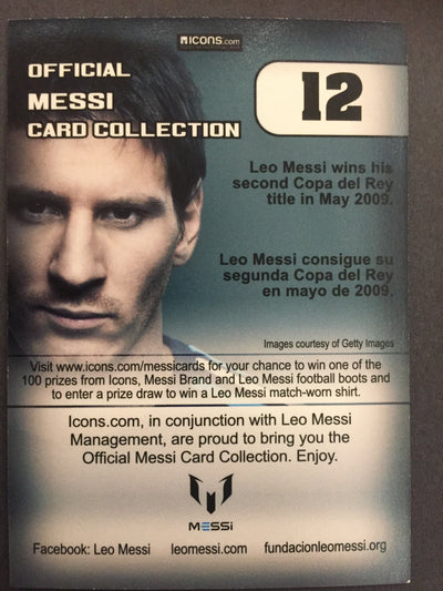 012. OFFICIAL MESSI CARD COLLECTION