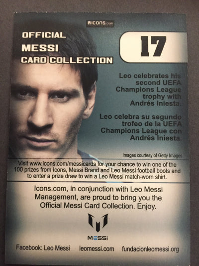 017. OFFICIAL MESSI CARD COLLECTION