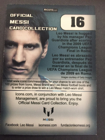 016. OFFICIAL MESSI CARD COLLECTION