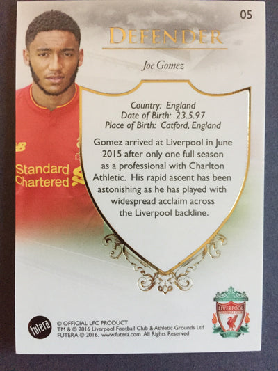 005. Joe Gomez - Liverpool
