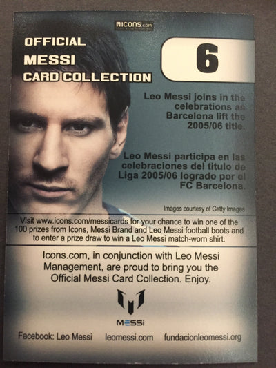 006. OFFICIAL MESSI CARD COLLECTION