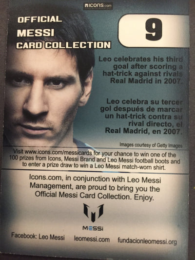 009. OFFICIAL MESSI CARD COLLECTION