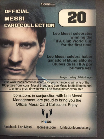 020. OFFICIAL MESSI CARD COLLECTION