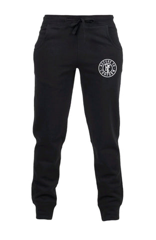 BLACK/GREY/CHARC TAPERED VINTAGE/CIRCULAR JOGGERS