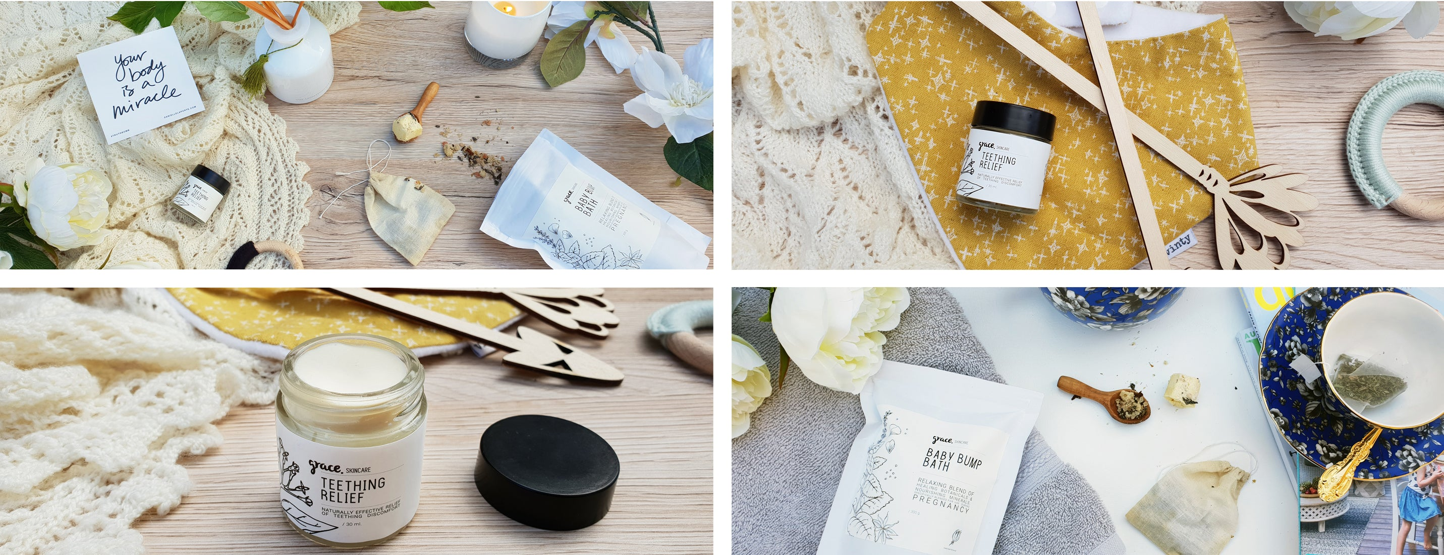 grace skincare product styling