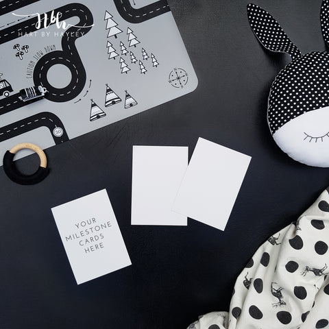 Monochrome baby themed stock photo for Milestone cards