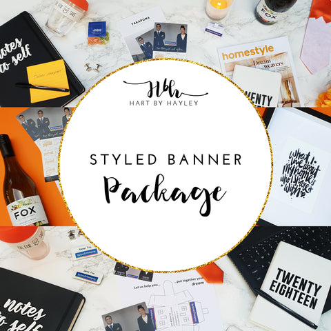 Styled banner package - set of 3