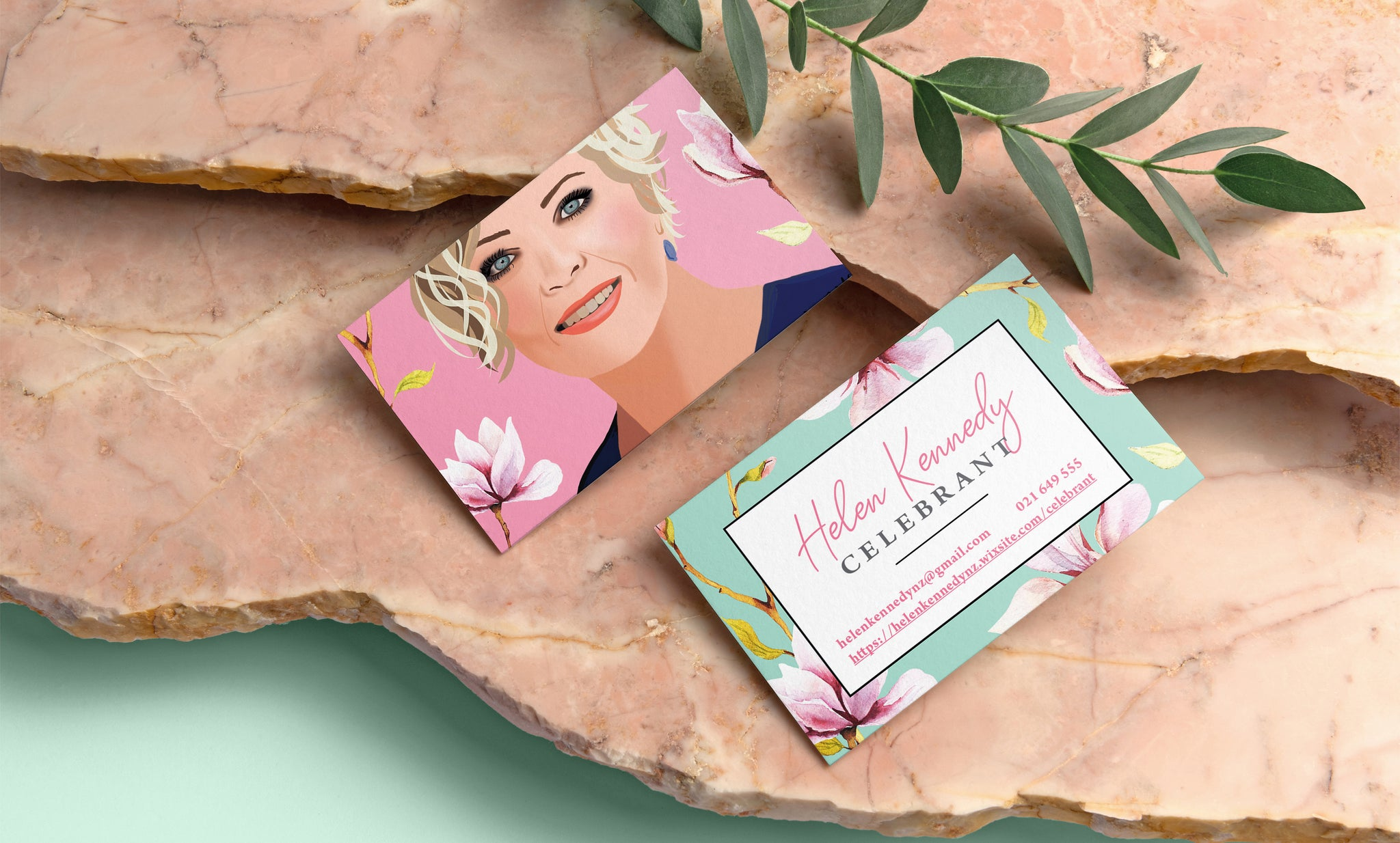 business card graphic design hart by hayley New zealand