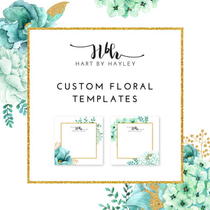 Floral template set of 3