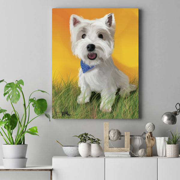 photo realistic digital illustration dog hart by hayley