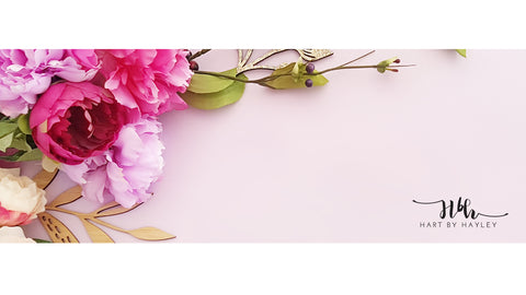 Pretty Floral Banner Stock Photo