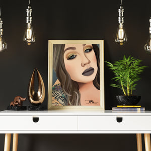 photo realistic digital illustration hart by hayley