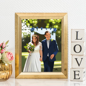 wedding digital illustration hart by hayleywedding gift digital illustration hart by hayley
