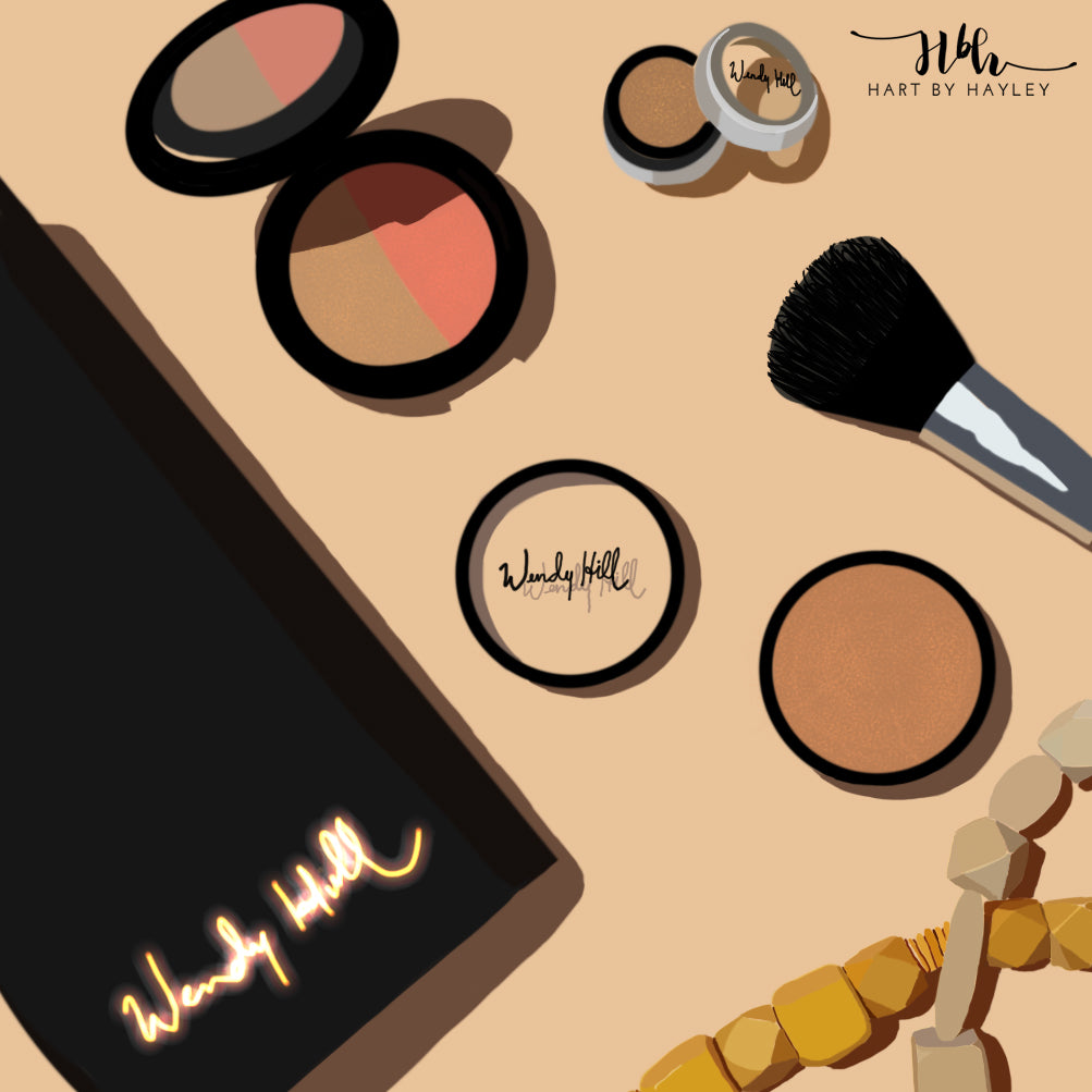 Product digital illustration - flatlay