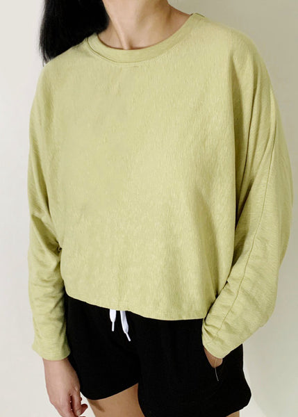 Lazy Cropped Sweater
