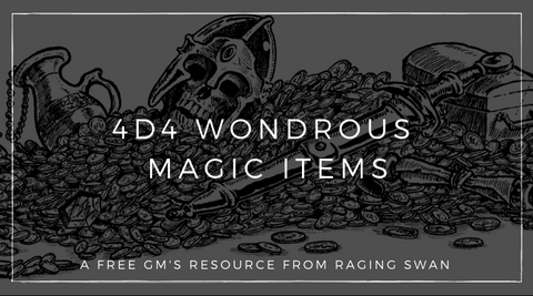 4d4 Wondrous Magical Items