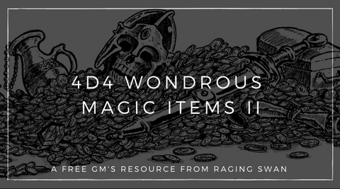 4d4 Wondrous Magic Items II
