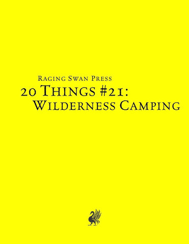 20 Things #21: Wilderness Camping