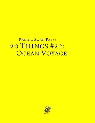 20 Things #22: Ocean Voyage