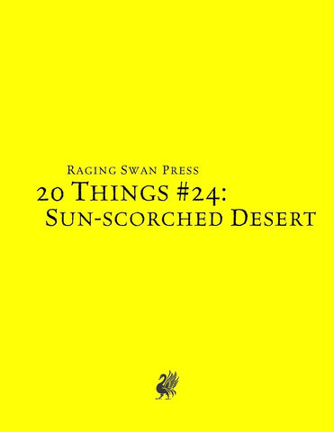 20 Things #24: Sun-scorched Desert