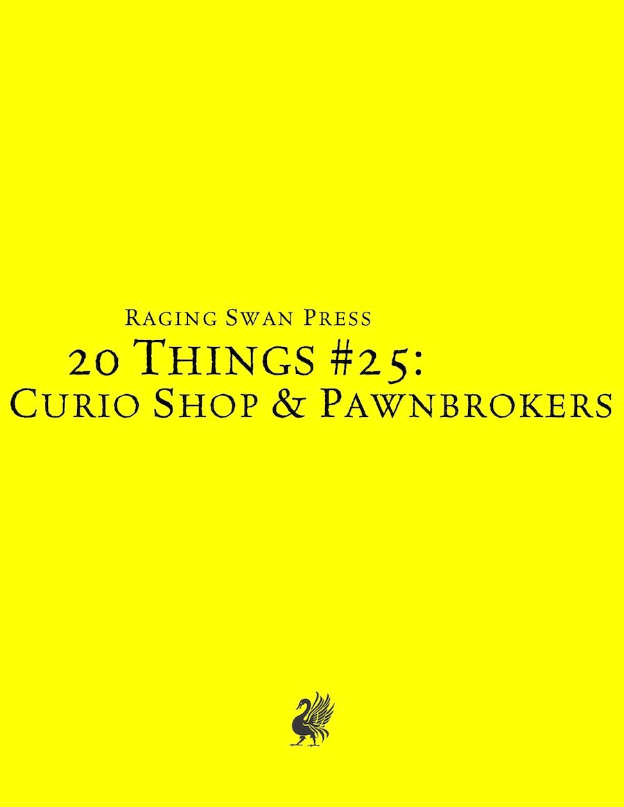 20 Things #25: Curio Shop & Pawnbrokers
