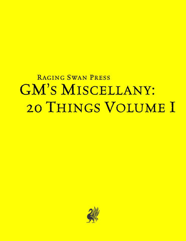 GM's Miscellany: 20 Things Vol. I (SNE)