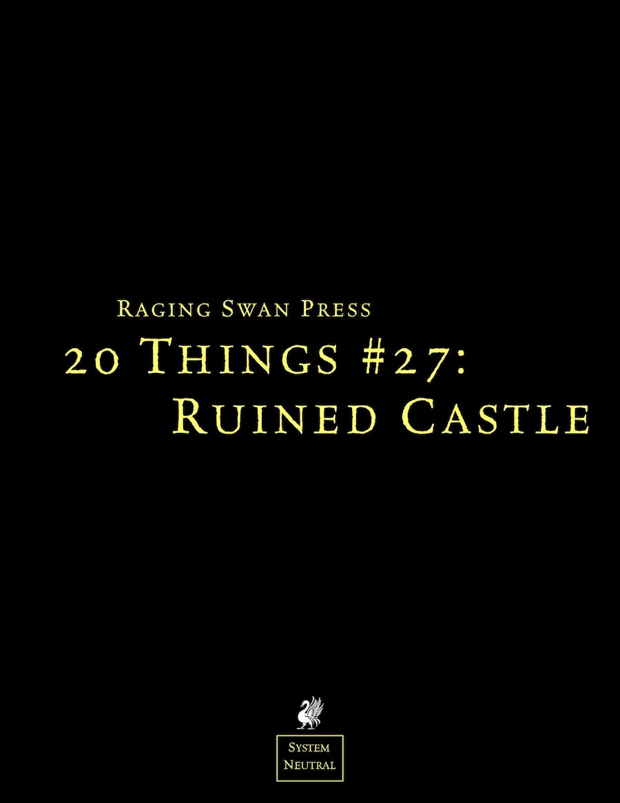 20 Things #27: Ruined Castle