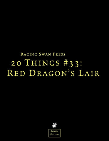 20 Things #33: Red Dragon's Lair