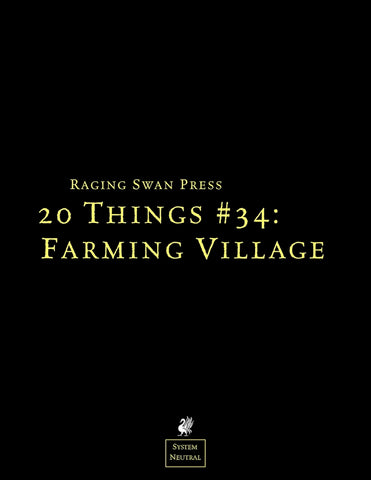 20 Things #34: Farming Village