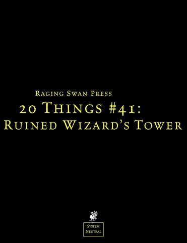 20 Things #41: Ruined Wizard's Tower (Free Phone Editions)