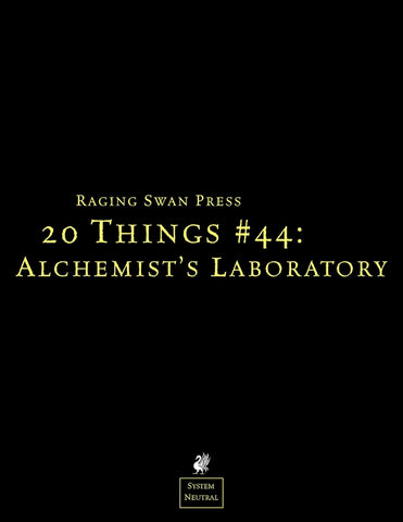 20 Things #44: Alchemist's Laboratory