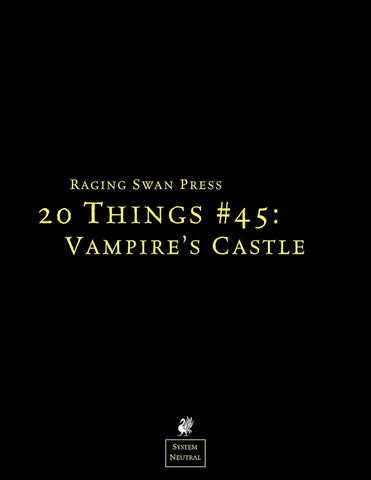 20 Things #45: Vampire's Castle
