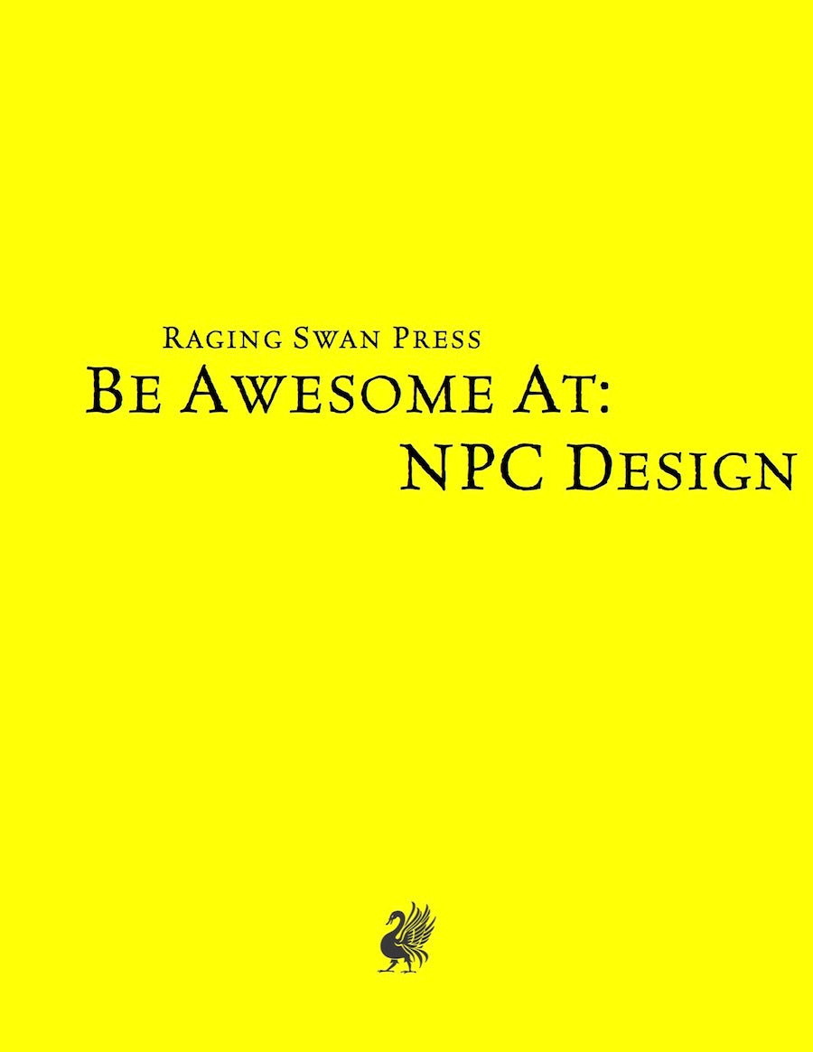 Be Awesome at NPC Design