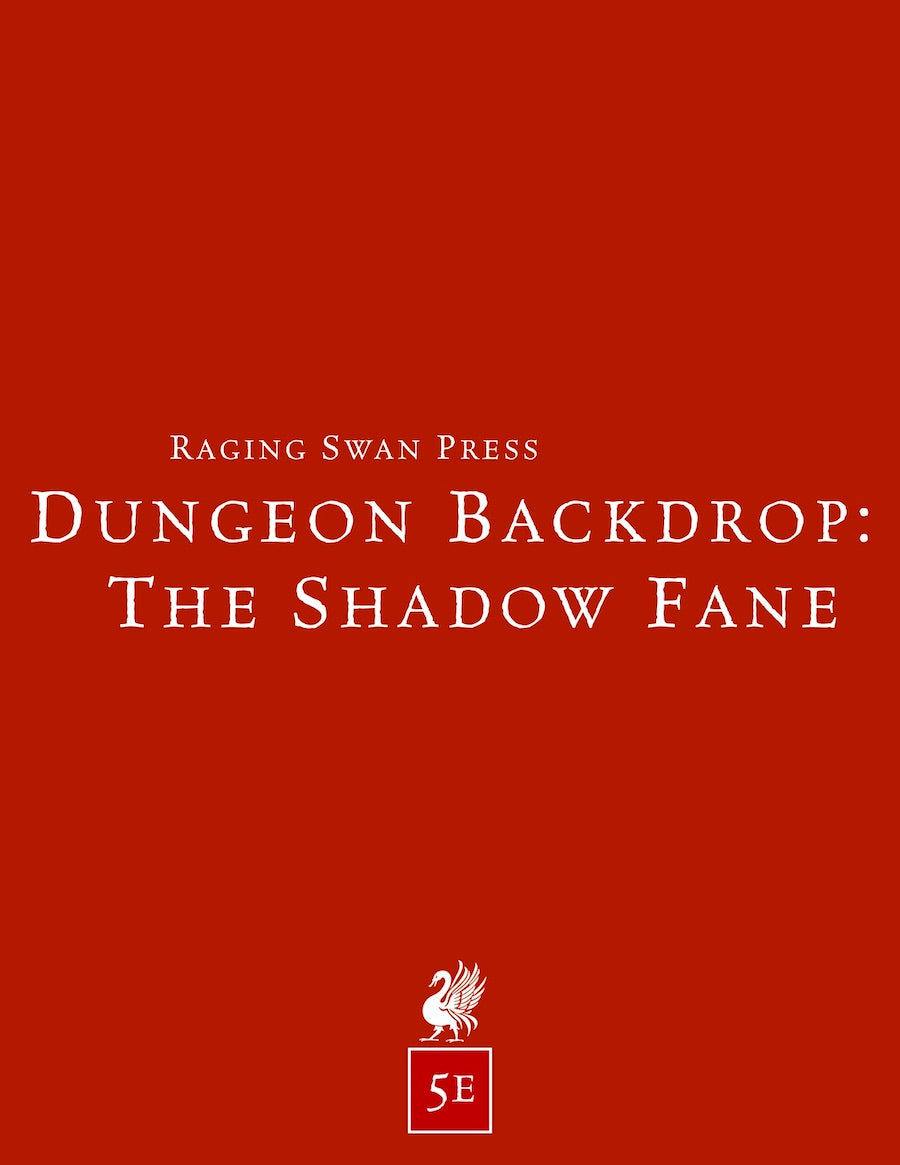 Dungeon Backdrop: The Shadow Fane (5e)
