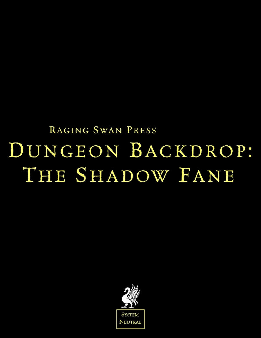 Dungeon Backdrop: The Shadow Fane (System Neutral)