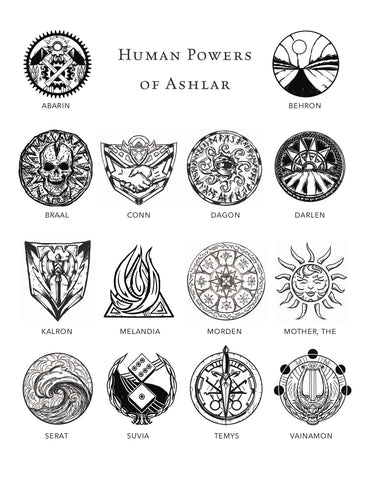 Deities & Demons Sigils