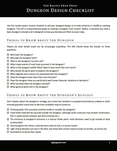 The Dungeon Design Checklist