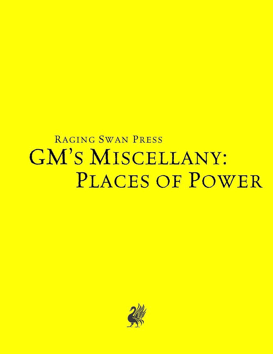 GM's Miscellany: Places of Power (SNE)